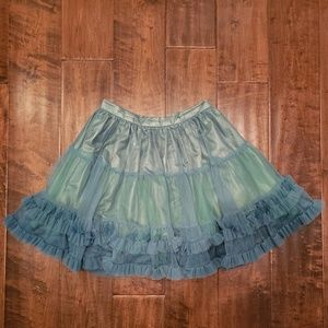 Forever 21 Green Tulle Layered Skirt Special